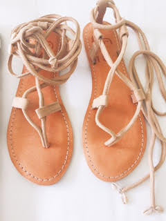 She Sells Seashells Camel Sandal