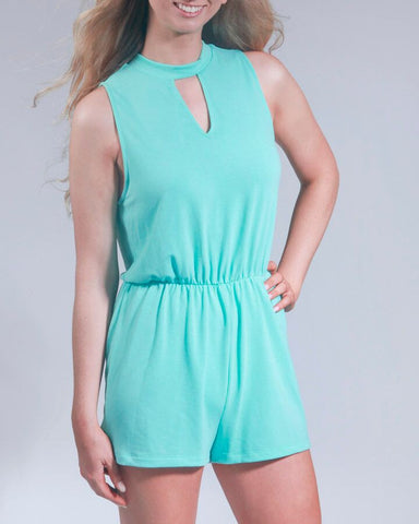 Mint For You Keyhole Romper