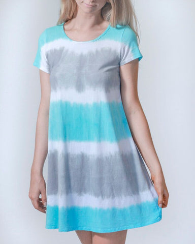 My Go-To Aqua T-shirt Dress