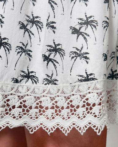 I'll Have A Pina Colada Palm Print Dress