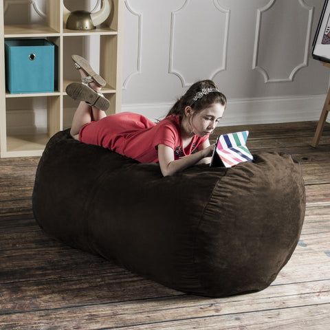 Chocolate Microsuede 4 Foot Jaxx Lounger