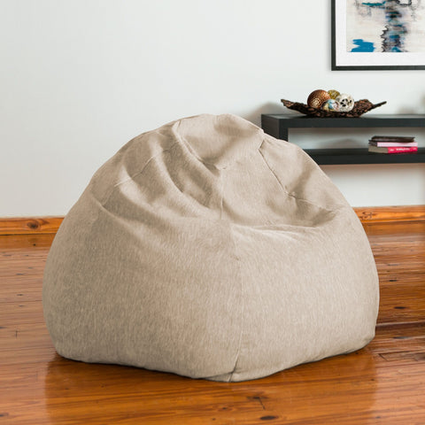 Beige Chenille Jaxx Kiss Bean Bag Chair
