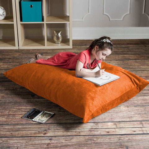 Orange Microsuede 3.5 Foot Jaxx Pillow Sak