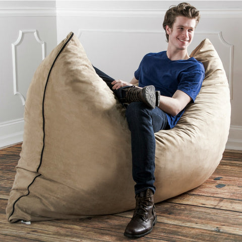 Camel Microsuede 5 Foot Jaxx Pillow Sak Bean Bag Chair