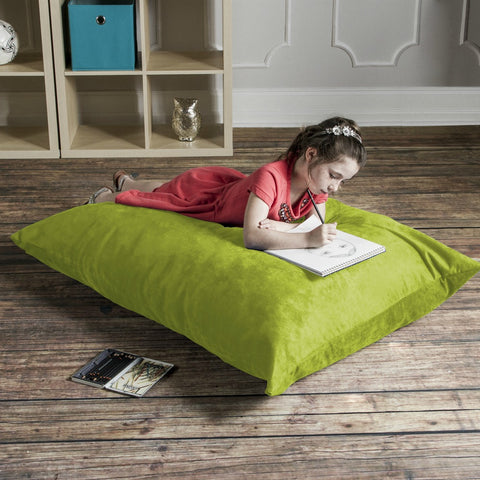 Lime Microsuede 3.5 Foot Jaxx Pillow Sak Bean Bag Chair