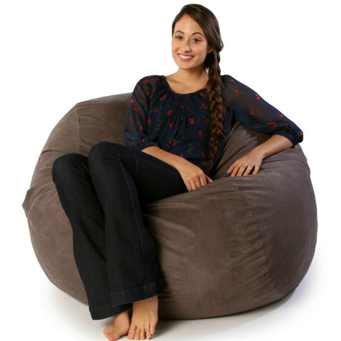Charcoal Microsuede 4 Foot Jaxx Sac Bean Bag Chair