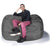 Charcoal Microsuede 5.5 Foot Jaxx Lounger