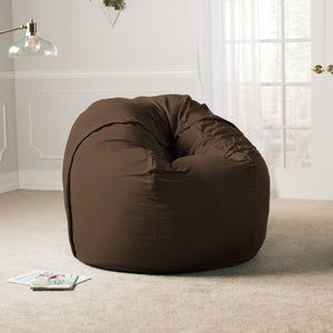 Chocolate Microsuede 5 Foot Jaxx Sac