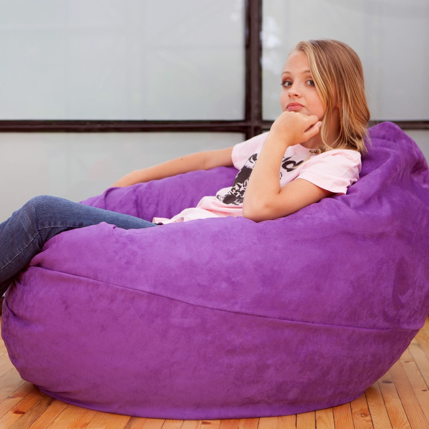 Grape Microsuede 4 Foot Jaxx Cocoon