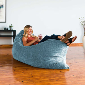Turquoise Chenille 5.5 Foot Jaxx Pillow Sak Bean Bag Chair