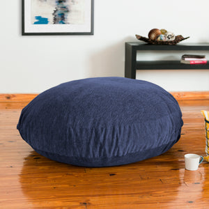 Navy Chenille 4 Foot Jaxx Cocoon Bean Bag Chair