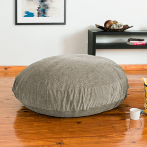Beige Chenille 4 Foot Jaxx Cocoon Bean Bag Chair