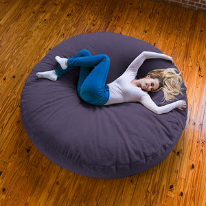 Plum Chenille 6 Foot Jaxx Cocoon Bean Bag Chair