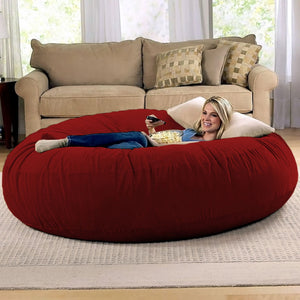Cinnabar Microsuede 6 Foot Jaxx Cocoon Bean Bag Chair