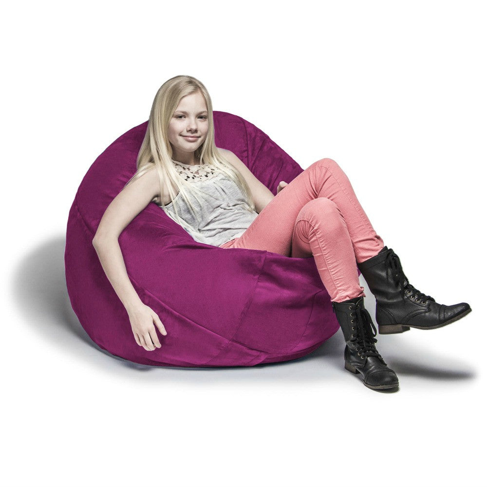 Fuchsia Microsuede 4 Foot Jaxx Cocoon Bean Bag Chair