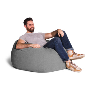 Grey Chenille Jaxx Kiss Bean Bag Chair