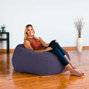 Plum Chenille Jaxx Kiss Bean Bag Chair