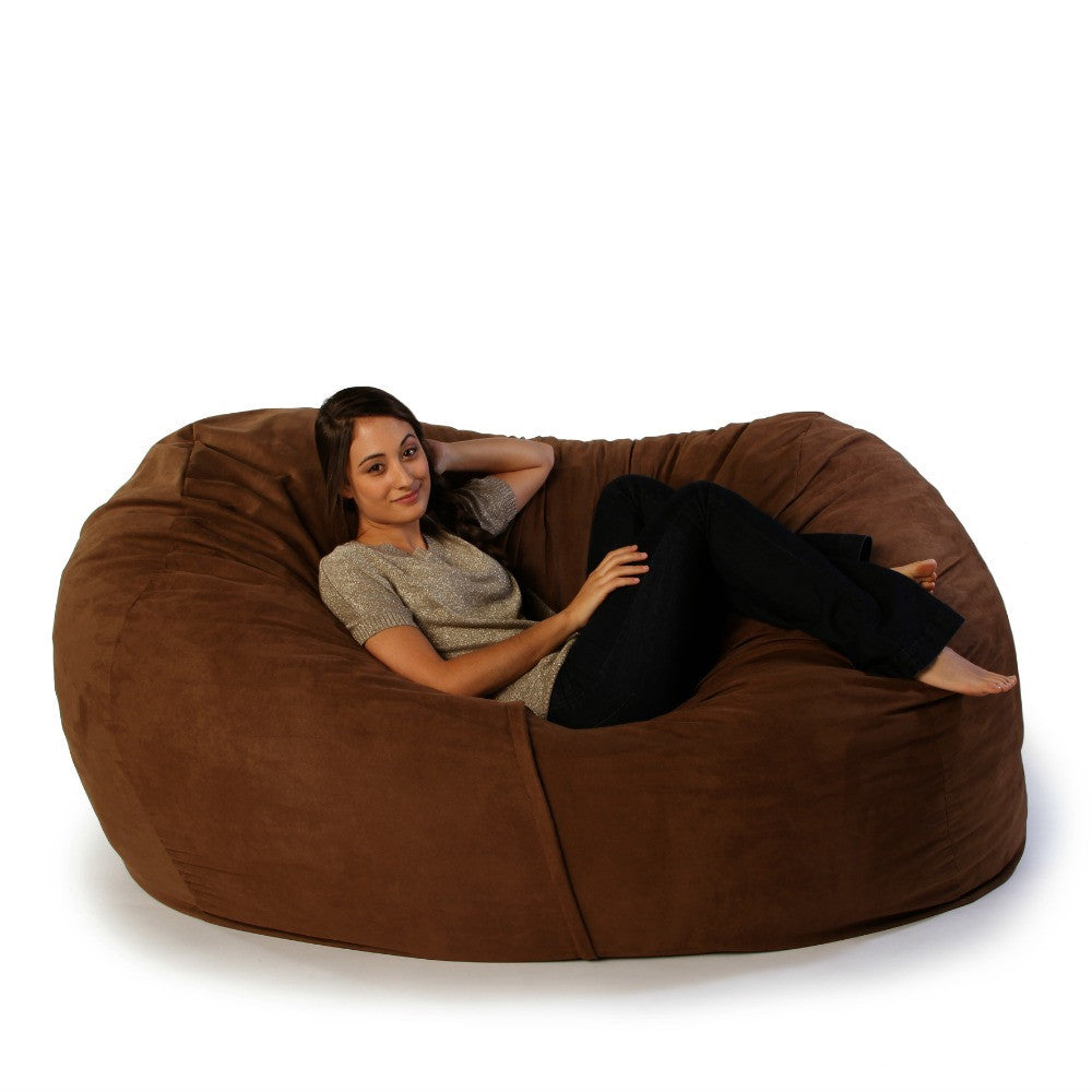 Chocolate Microsuede 6 Foot Jaxx Lounger