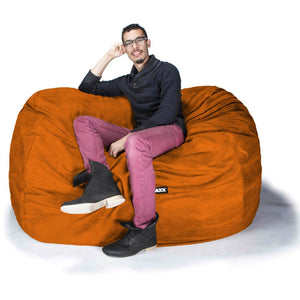 Orange Microsuede 6 Foot Jaxx Lounger