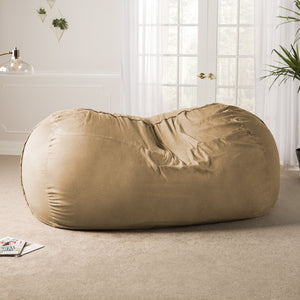Camel Microsuede 7 Foot Jaxx Lounger Bean Bag Chair