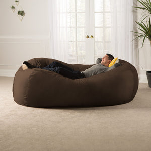 Chocolate Microsuede 7 Foot Jaxx Lounger Bean Bag Chair