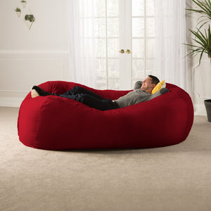 Cinnabar Microsuede 7 Foot Jaxx Lounger Bean Bag Chair