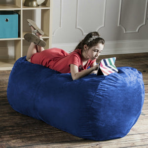 Blueberry Microsuede 4 Foot Jaxx Lounger Bean Bag Chair