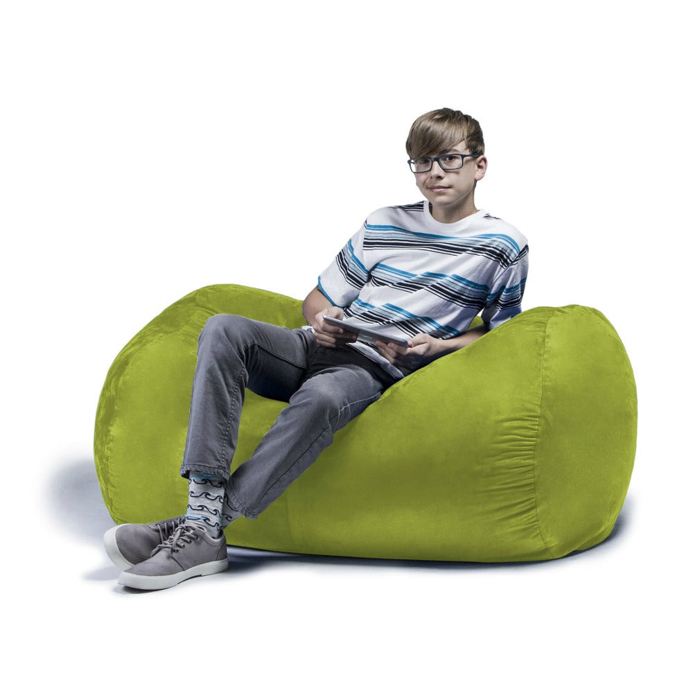 Lime Microsuede 4 Foot Jaxx Lounger Bean Bag Chair