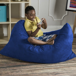 Blueberry Microsuede 3.5 Foot Jaxx Pillow Sak Bean Bag Chair