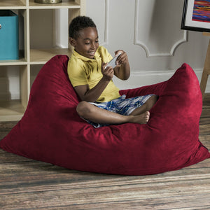 Cherry Microsuede 3.5 Foot Jaxx Pillow Sak Bean Bag Chair
