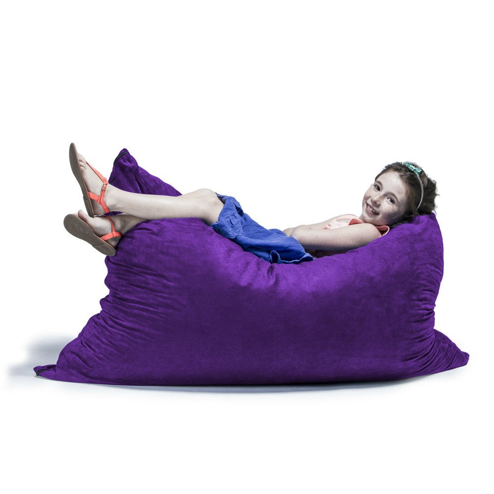 Grape Microsuede 3.5 Foot Jaxx Pillow Sak Bean Bag Chair