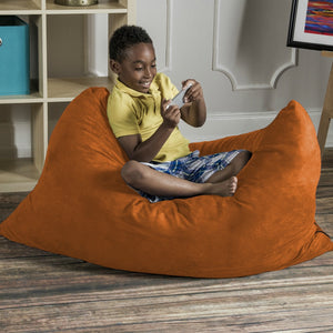 Orange Microsuede 3.5 Foot Jaxx Pillow Sak Bean Bag Chair