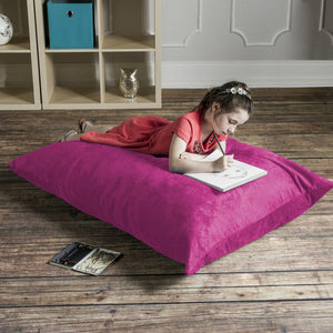Fuchsia Microsuede 3.5 Foot Jaxx Pillow Sak Bean Bag Chair