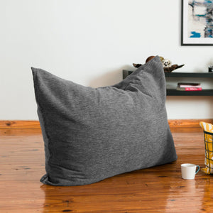 Grey Chenille 3.5 Foot Jaxx Pillow Sak Bean Bag Chair