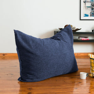 Navy Blue Chenille 3.5 Foot Jaxx Pillow Sak Bean Bag Chair