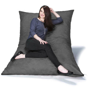 Charcoal Microsuede 5 Foot Jaxx Pillow Sak Bean Bag Chair