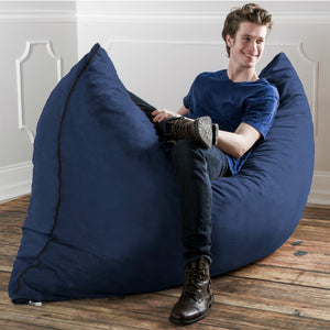 Navy Microsuede 5 Foot Jaxx Pillow Sak Bean Bag Chair