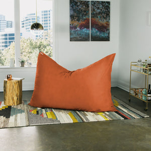 Orange Microsuede 5 Foot Jaxx Pillow Sak Bean Bag Chair