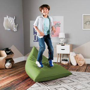 Avocado Cotton Jaxx Pivot Junior Bean Bag Chair