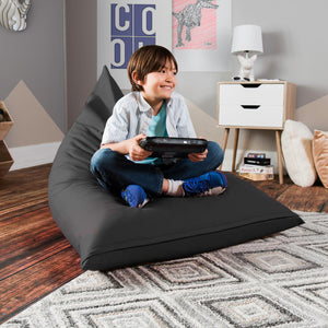 Graphite Cotton Jaxx Pivot Junior Bean Bag Chair