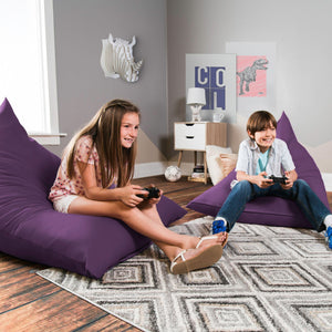 Violet Cotton Jaxx Pivot Junior Bean Bag Chair