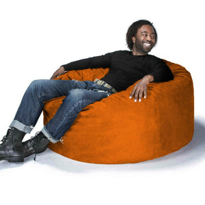 Orange Microsuede 4 Foot Jaxx Sac Bean Bag Chair