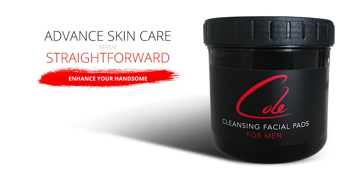 Cole Skincare For Men Cleansing Facial Pads