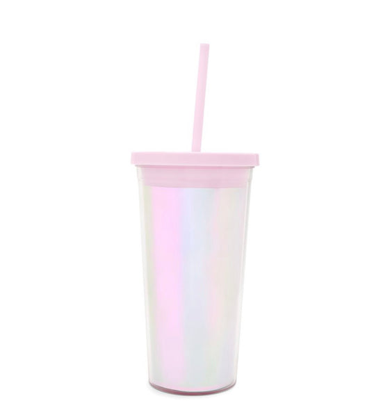 ban.do pearlescent sip sip tumbler with straw