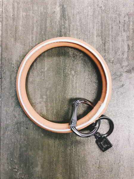 big O key ring dreamsicle (leather)