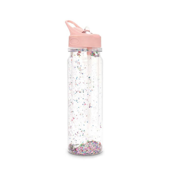 ban.do multi confetti glitter bomb water bottle