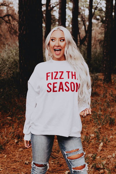 FIZZ THE SEASON heather grey sweatshirt
