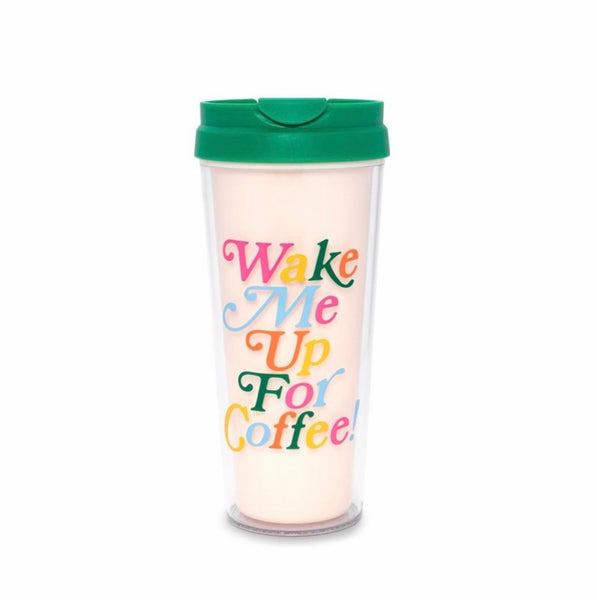 ban.do hot stuff thermal mug wake me up for coffee