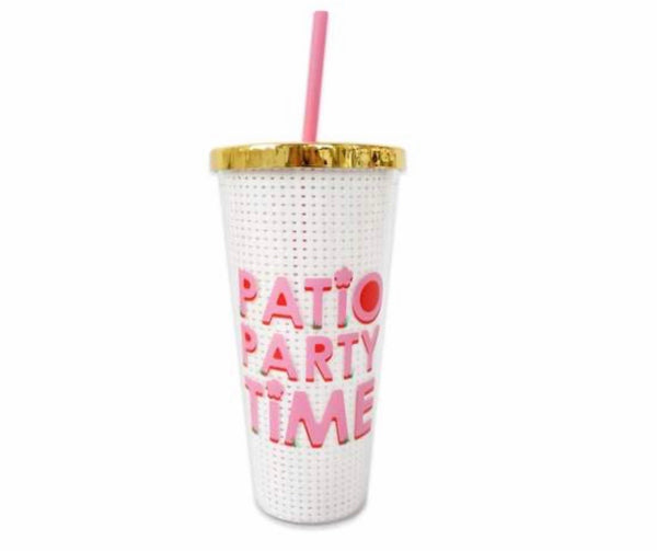 packed party patio party tumbler