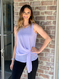 Chiffon Tank With Front Detail